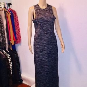 Long casual marble black and white color CPW dress